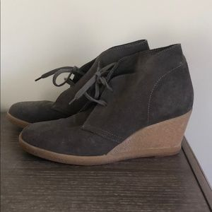 J Crew rubber wedge shoes.